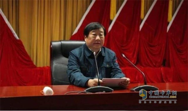 中国重汽董事长兼党委书记谭旭光讲话