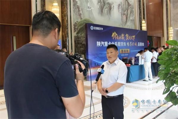 陕重汽销售公司安徽区域总经理侯斌
