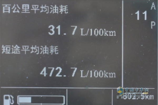 中国首款智能卡车  汕德卡车辆综合油耗为31.7L/100KM