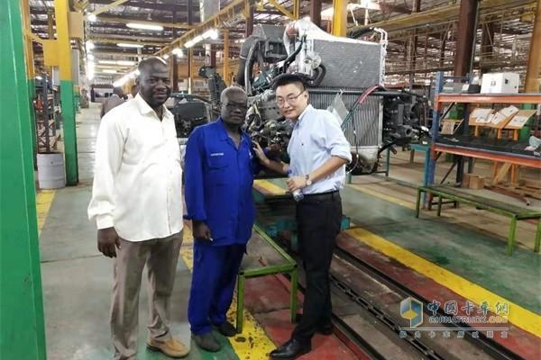 中国重汽非洲部驻埃塞俄比亚代表处首席代表倪庆端工作
