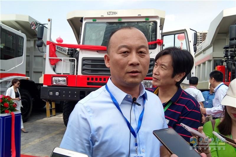 13-内蒙古华威矿业工程有限责任公司董事长赵龙现场接受采访