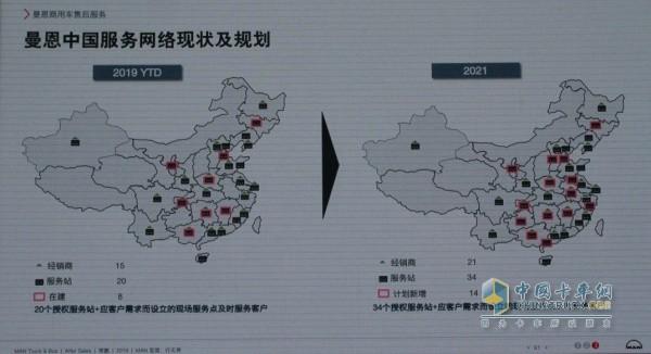 曼恩中国服务网络现状及规划