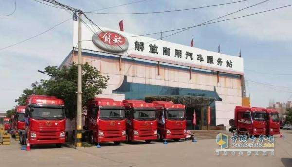 陕西澄县王会军的服务站正门