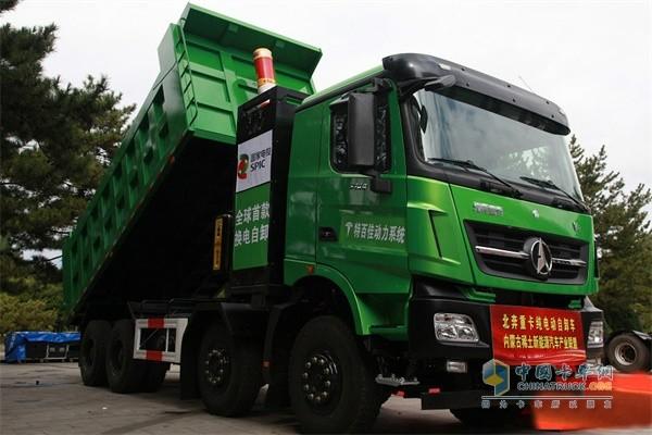 北奔重汽&包钢集团首台换电重卡交车,开启新能源时代!