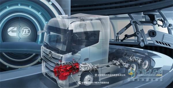 欧曼EST 560马力超级重卡配装福田康明斯X13动力