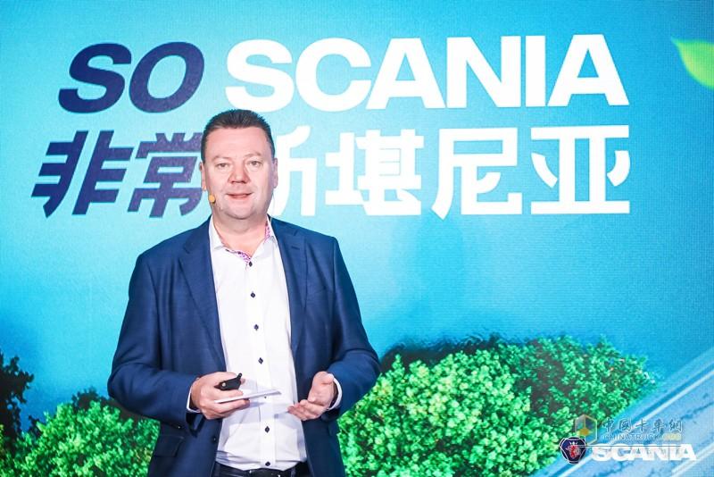 2019年9月26日,可持续交通运输解决方案引领者斯堪尼亚在广州迎来全新一代斯堪尼亚媒体评测活动收官,活动现场,斯堪尼亚中国区董事总经理文政 (Steve Wager)向与会新闻媒体分享了今年以来斯堪尼亚的成绩单