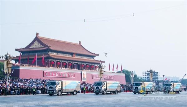 新中国成立70周年阅兵仪式环卫保障作业