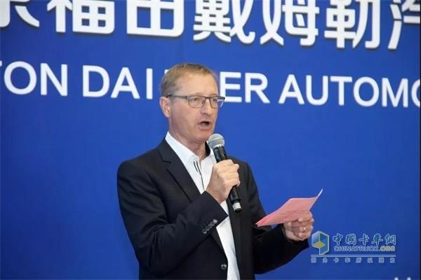 福田戴姆勒汽车研发副总裁宋伟致辞