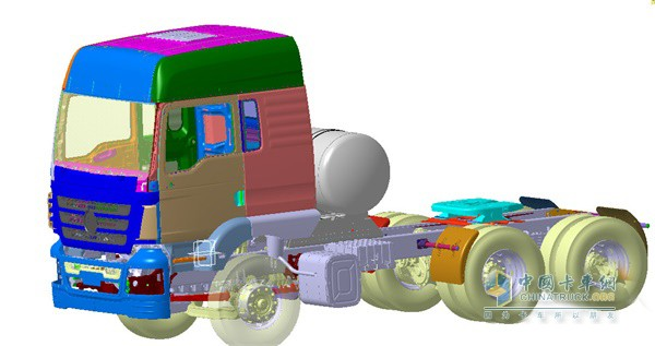 陕汽轩德3系燃气牵引车符合人体工程学设计