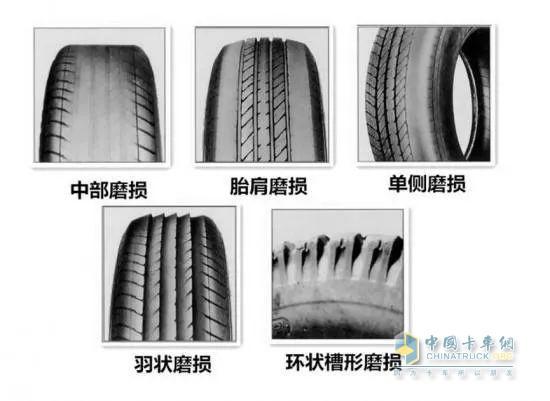 轮胎异常磨损型式