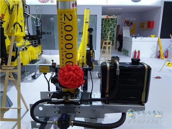 海沃中国工厂第200万根液压油缸