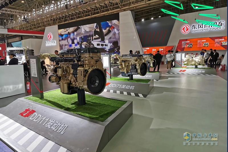 东风商用车携天龙、天锦。及自主动力品牌龙擎亮相武汉车展