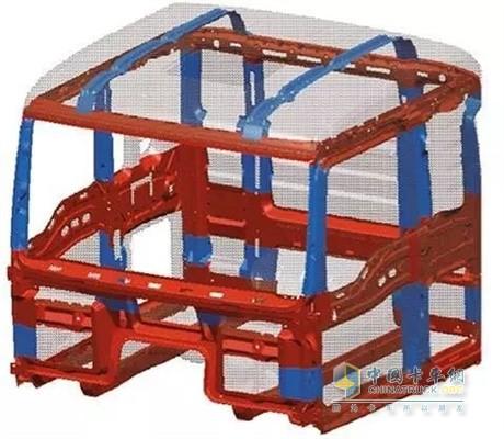 陕汽重卡独有的龙骨式框架结构驾驶室