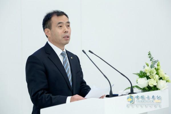 北汽集团总经理、福田汽车董事长张夕勇发表讲话