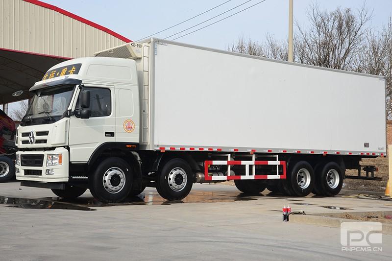 大运重卡 新N8E 8×4 350马力轻量化冷藏车