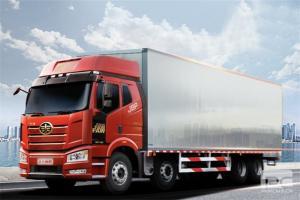 一汽解放 新J6P重卡 领航版 460马力 8X4 9.5米厢式载货车