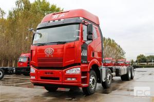 一汽解放J6P重卡绿通版国五栏板载货车