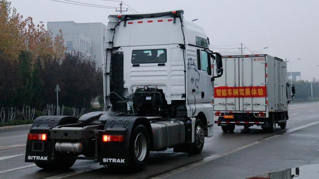 司机操作PK自动驾驶!快重汽II代智能卡车完胜!