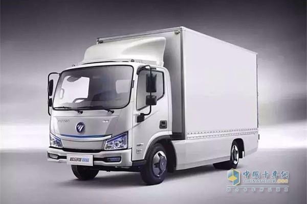 欧马可智蓝纯电动产品装载高密度大容量电池组