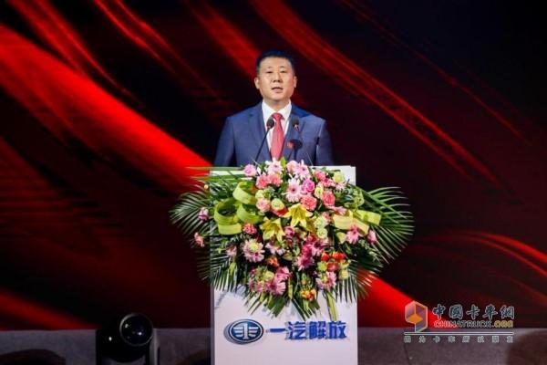 一汽解放销售公司副总经理、西部营销部部长李玉峰