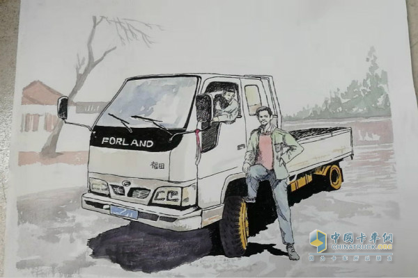 时代用户郭海涛的画—郭海涛父亲与时代汽车