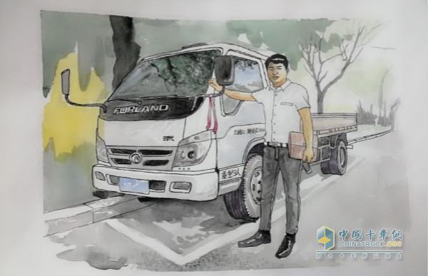 时代用户郭海涛的画—他与时代汽车