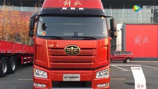 引领趋势117.8立方米超大货箱容积解放J6P中置轴货运列