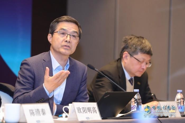 中国电动汽车百人会副理事长欧阳明高