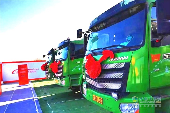 欧曼渣土车采用国际领先水平密闭环保货箱