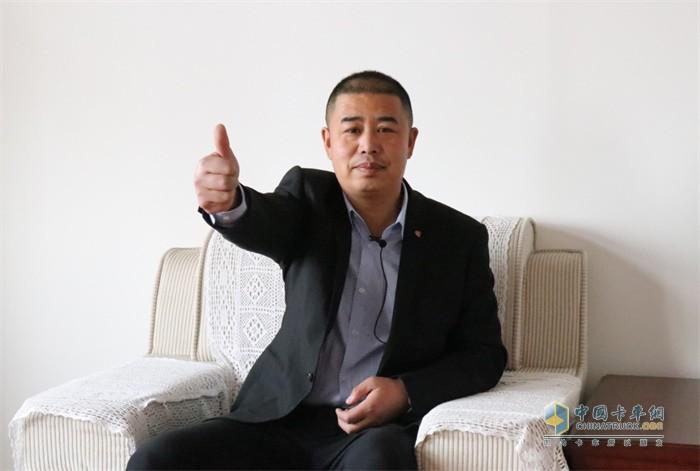 天津宇屹新材料科技发展有限公司车队主管王队长为解放点赞