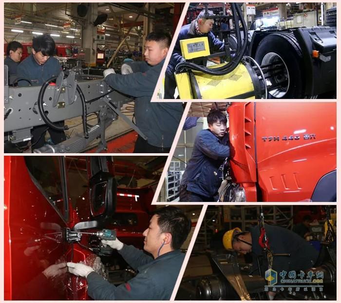 中国重汽 重汽豪沃 牵引车