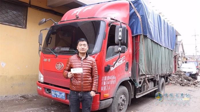 中国卡车网发现信赖活动采访李伟师傅