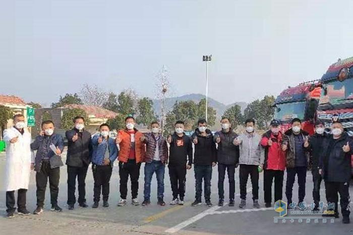 山东兰陵县欧曼卡友驰援武汉,为武汉加油!