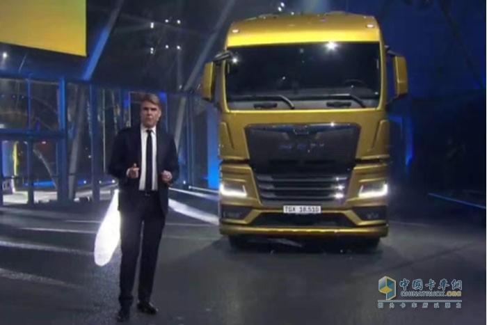 黄金玉的配色的曼恩TGX新车
