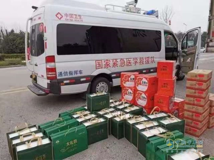 来自宁夏的特殊爱心援助物资