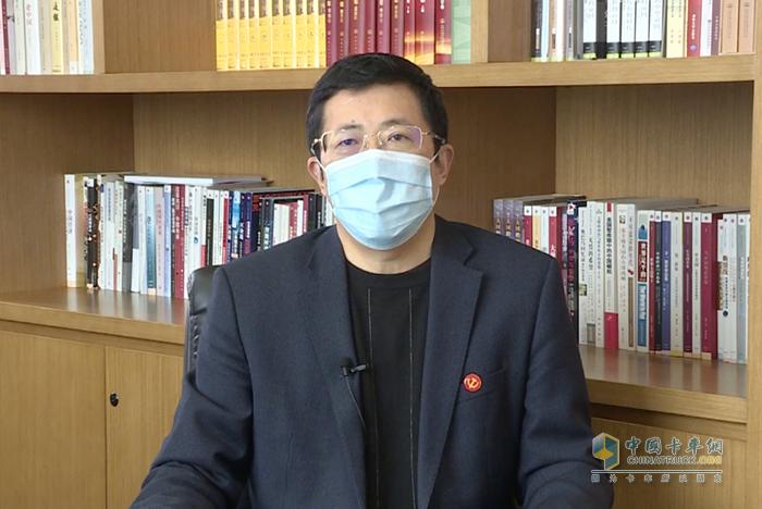 中国交通报社党委书记、董事长蔡玉贺致辞