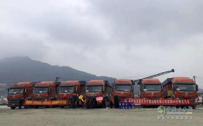 40台搭载潍柴WP12发动机的牵引车交付客户