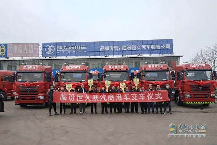 轩德400马力国六燃气牵引车在临汾区域成功批量交付