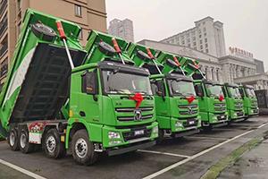 助力泰州蓝天保卫战 36台漢風G7环保渣土车极速交付!