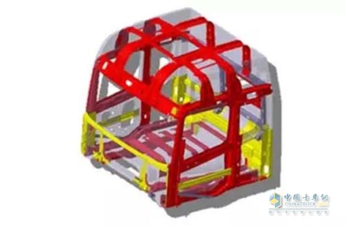 联合卡车驾驶室采用了独特的笼式结构