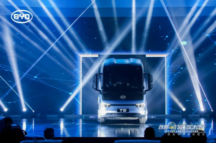 全新比亚迪纯电动卡车T5隆重亮相
