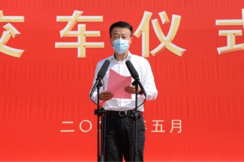 大运汽车董事、山西大运销售总经理姜宇翔先生致欢迎词