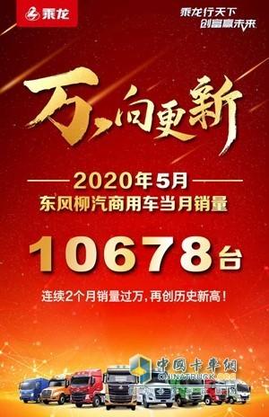 2020年5月东风柳汽商用车当月销量10678台