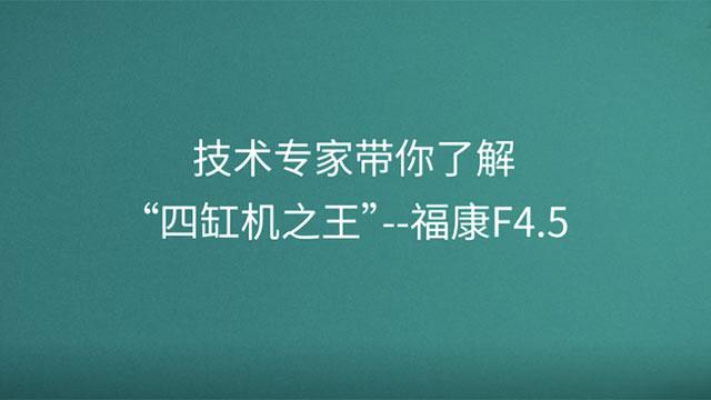"""技术专家带你了解""""四缸机之王""""--福康F4.5"""