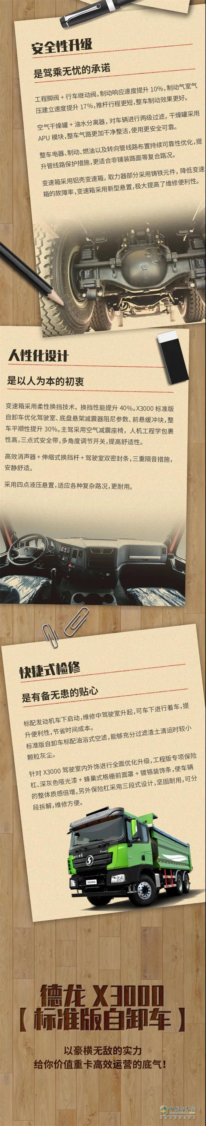 德龙X3000标准版自卸车