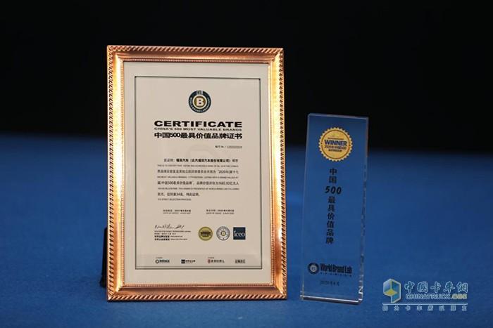 中国500最具价值品牌