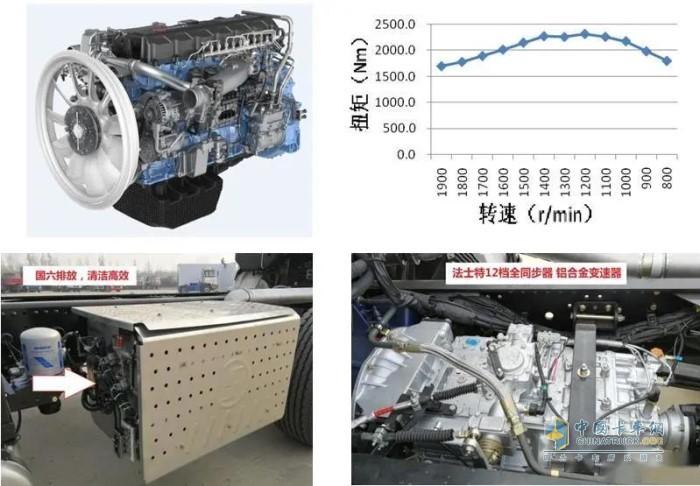 满足国六排放的13升510马力WP13.510E62高效发动机