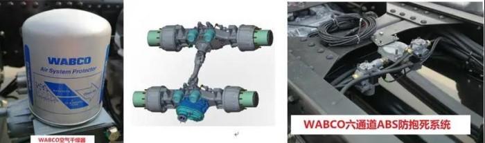 标配WABCO阀+六通道ABS防抱死系统+VOSS接头