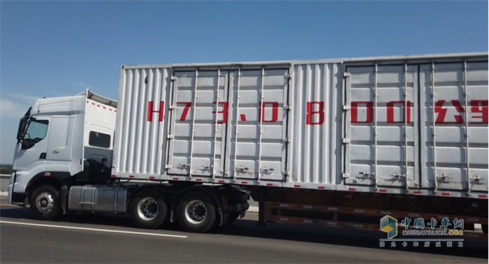 乘龙H7 3.0 600马力自动挡产品参加800公里长测活动
