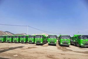 辽宁热销!30台汉风G7天然气自卸车交付葫芦岛大客户!